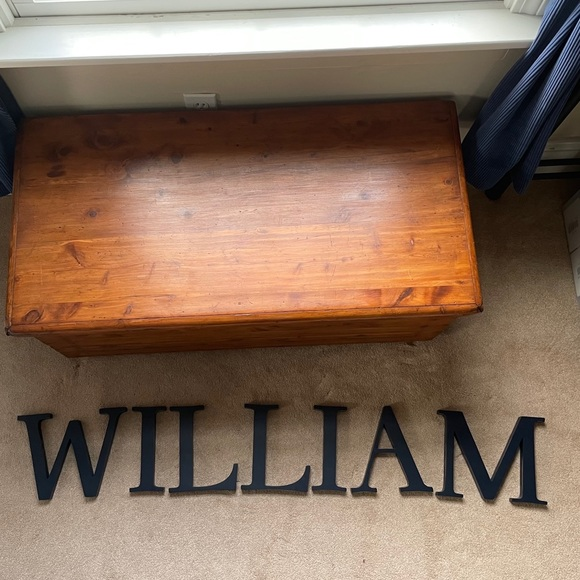 """Pottery Barn Kids """"WILLIAM"""" Name Letters"""